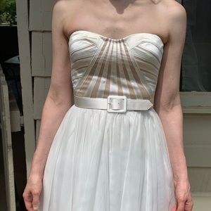 Aidan Maddox strapless dress